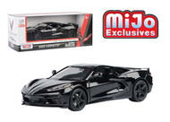 2020 CHEVROLET CORVETTE C8 STINGRAY BLACK 1/24 SCALE DIECAST CAR MODEL BY MOTOR MAX 79360