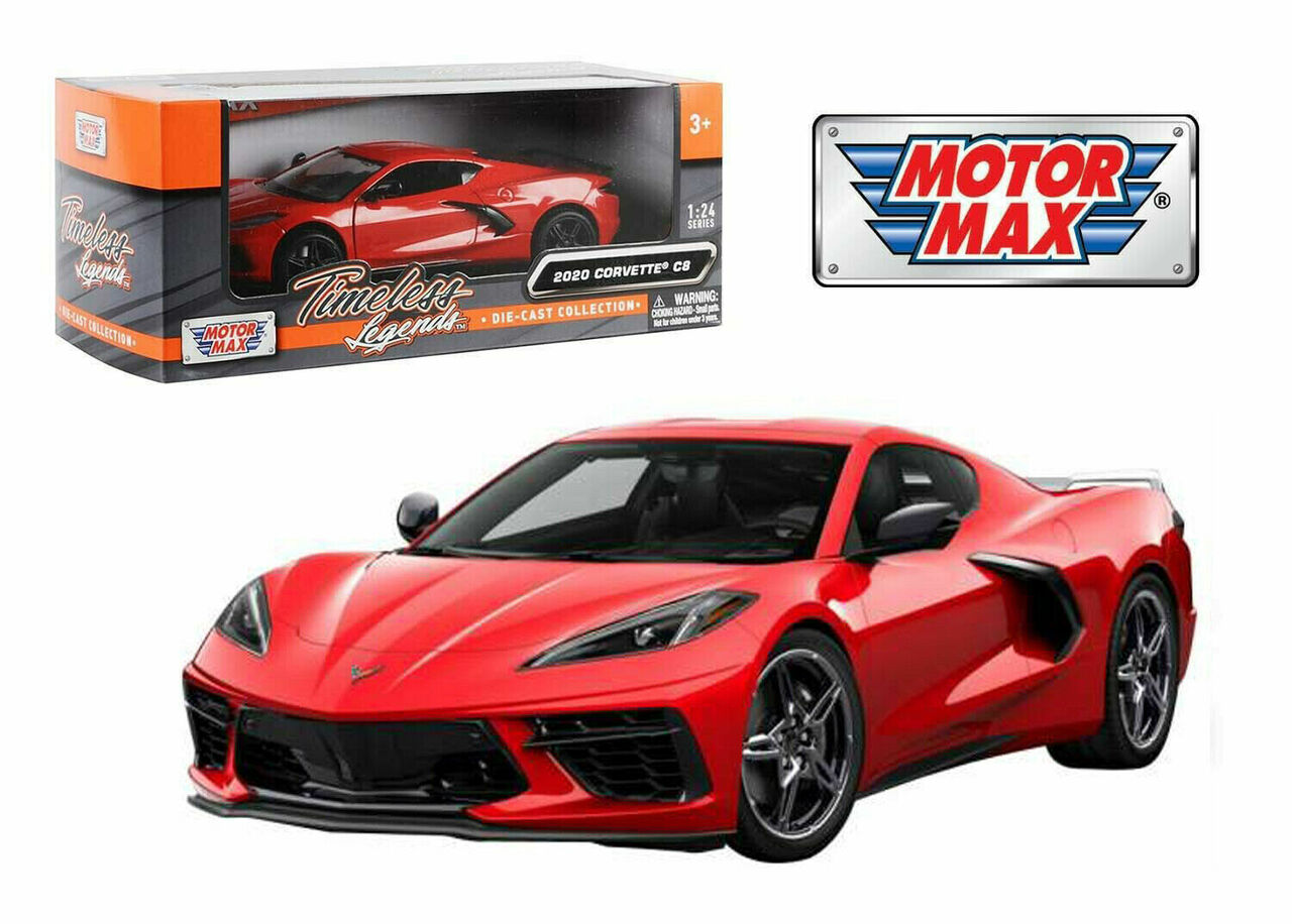 2020 Chevrolet Corvette C8 Stingray Red 1 24 Scale Diecast Car Model By Motor Max 79360 Jvk Toys