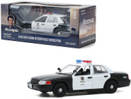 2008 FORD CROWN VICTORIA POLICE INTERCEPTOR LAPD THE ROOKIE 1/24 SCALE DIECAST CAR MODEL BY GREENLIGHT 84111