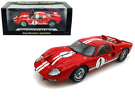 1966 FORD GT40 MK II #1 RED 1/18 SCALE DIECAST CAR MODEL BY SHELBY COLLECTIBLES SC 407