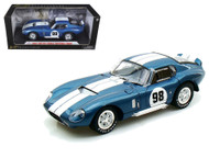 1965 SHELBY COBRA DAYTONA COUPE #98 BLUE 1/18 SCALE DIECAST CAR MODEL BY SHELBY COLLECTIBLES SC130