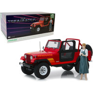 1983 JEEP CJ-7 RENEGADE THE TERMINATOR SARAH CONNOR 1/18 SCALE DIECAST CAR MODEL BY GREENLIGHT 19060