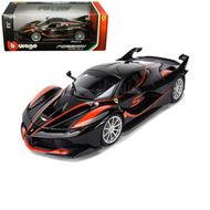 FERRARI FXX-K #5 BLACK 1/18 SCALE DIECAST CAR MODEL BY BBURAGO 16010