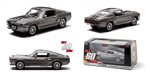 1967 FORD MUSTANG ELEANOR GONE IN 60 SECONDS 1/43 SCALE DIECAST CAR MODEL BY GREENLIGHT 86411