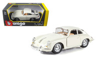 1961 PORSCHE 356 B COUPE IVORY 1/24 SCALE DIECAST CAR MODEL BY BBURAGO 22079