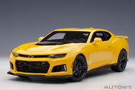 2017 CHEVROLET CAMARO ZL1 BRIGHT YELLOW 1/18 SCALE DIECAST CAR MODEL BY AUTOART 71205
