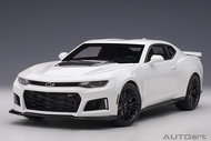 2017 CHEVROLET CAMARO ZL1 SUMMIT WHITE 1/18 SCALE DIECAST CAR MODEL BY AUTOART 71206