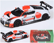 AUDI R8 LEMANS LMS 2018 10HR SUZUKA WRT #66 1/64 SCALE DIECAST CAR MODEL BY PARAGON PARA64 55262