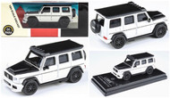 MERCEDES BENZ AMG G63 WHITE LIBERTY WALK  LBWK 1/64 SCALE DIECAST CAR MODEL BY PARAGON PARA64 55161