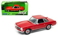 1963 MERCEDES BENZ 230 SL RED 1/24 SCALE DIECAST CAR MODEL BY WELLY 24093