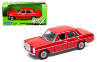 MERCEDES BENZ 220 RED 1/24 SCALE DIECAST CAR MODEL BY WELLY 24091