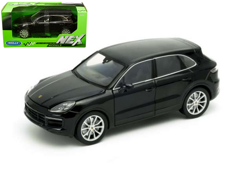 Porsche Cayenne Turbo Black 1 24 Scale Diecast Car Model By Welly 24092 Jvk Toys