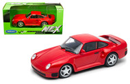 PORSCHE 959 RED 1/24 SCALE DIECAST CAR MODEL BY WELLY 24076