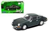 PORSCHE 911 DARK GRAY 1/24 SCALE DIECAST CAR MODEL BY WELLY 24087