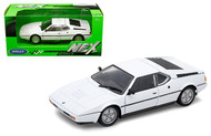 BMW M1 WHITE 1/24 SCALE DIECAST CAR MODEL BY WELLY 24098