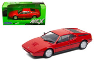 BMW M1 RED 1/24 SCALE DIECAST CAR MODEL BY WELLY 24098