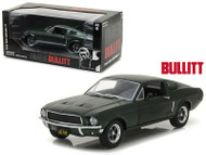 1968 FORD MUSTANG GT GREEN BULLITT MOVIE 1/18 SCALE DIECAST CAR MODEL BY GREENLIGHT 12822