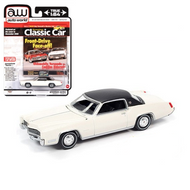 1967 CADILLAC ELDORADO WHITE HEMMINGS CARS 1/64 SCALE DIECAST CAR MODEL BY AUTO WORLD AWSP047