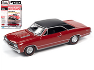 1967 CHEVROLET CHEVELLE SS RED 1/64 SCALE DIECAST CAR MODEL BY AUTO WORLD AWSP051