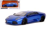 LAMBORGHINI MURCIELAGO LP640 BLUE HYPER SPEC 1/24 SCALE DIECAST CAR MODEL BY JADA TOYS 32279