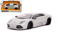 LAMBORGHINI MURCIELAGO LP640 WHITE HYPER SPEC 1/24 SCALE DIECAST CAR MODEL BY JADA TOYS 32274