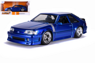 1989 FORD MUSTANG GT BLUE BIGTIME MUSCLE 1/24 SCALE DIECAST CAR MODEL BY JADA TOYS 31863