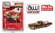 1976 CADILLAC COUPE DEVILLE BROWN CUSTOM LOWRIDERS EXCLUSIVE 1/64 SCALE DIECAST CAR MODEL BY AUTO WORLD CP7660