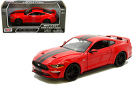 2018 FORD MUSTANG GT RED 1/24 SCALE DIECAST CAR MODEL BY MOTOR MAX 79352