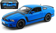 2013 FORD MUSTANG BOSS 302 BLUE 1/18 SCALE DIECAST CAR MODEL BY SHELBY COLLECTIBLES SC450