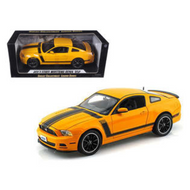 2013 FORD MUSTANG BOSS 302 ORANGE 1/18 SCALE DIECAST CAR MODEL BY SHELBY COLLECTIBLES SC451