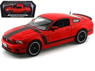 2013 FORD MUSTANG BOSS 302 RED 1/18 SCALE DIECAST CAR MODEL BY SHELBY COLLECTIBLES SC454