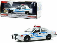 2011 FORD CROWN VICTORIA INTERCEPTOR NYPD NEW YORK POLICE DEPARTMENT 1/24 SCALE DIECAST CAR MODEL BY GREENLIGHT 85513