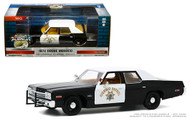 1974 DODGE MONACO CALIFORNIA HIGHWAY PATROL CHP 1/24 SCALE DIECAST CAR MODEL BY GREENLIGHT 85511