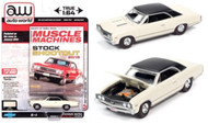 1967 CHEVROLET CHEVELLE SS CREAM 1/64 SCALE DIECAST CAR MODEL BY AUTO WORLD AWSP051 B