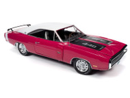 1970 DODGE CHARGER R/T SE HARDTOP PINK  1/18 SCALE DIECAST CAR MODEL BY AUTO WORLD AMM1215