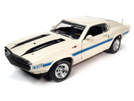 1970 SHELBY GT500 FORD MUSTANG 1/18 SCALE DIECAST CAR MODEL BY AUTO WORLD AMM1229