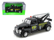 1953 Chevrolet 3100 Tow Truck Wrecker Road Service Black 1/24 Scale Diecast Model By Welly 22086