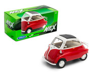 BMW ISETTA RED & CREAM TOP 1/24 SCALE DIECAST CAR MODEL BY WELLY 24096