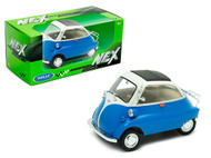BMW ISETTA BLUE & CREAM TOP 1/24 SCALE DIECAST CAR MODEL BY WELLY 24096