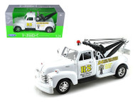 1953 Chevrolet 3100 Tow Truck Wrecker Road Service White 1/24 Scale Diecast Model By Welly 22086