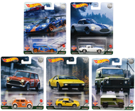 2021 CAR CULTURE BRITISH HORSE POWER A CASE SET OF 5 1/64 SCALE DIECAST CAR MODEL BY HOT WHEELS FPY86-957A