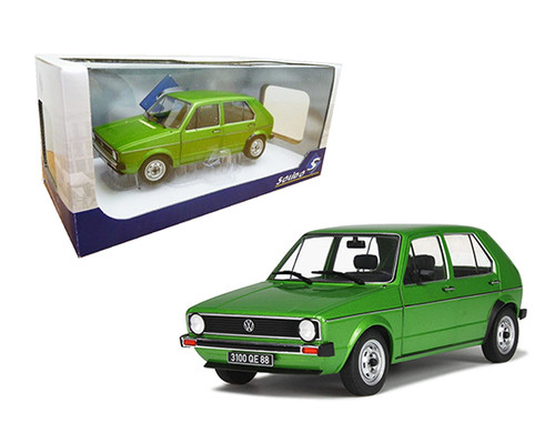 1983 VOLKSWAGEN GOLF L GREEN VW 1/18 SCALE DIECAST CAR MODEL BY SOLIDO S1800203