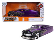 1951 FORD MERCURY MERC PURPLE WITH FLAMES 1/24 SCALE DIECAST CAR MODEL BY JADA TOYS 32305