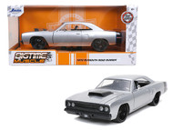 1970 PLYMOUTH ROADRUNNER SILVER 1/24 SCALE DIECAST CAR MODEL BY JADA TOYS 32306