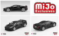 2020 CHEVROLET CORVETTE C8 BLACK MIJO EXCLUSIVE 1/64 SCALE DIECAST CAR MODEL BY TSM MINI GT MGT00153