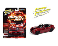 1999 MAZDA MIATA MX5 BURGUNDY IMPORT HEAT 1/64 SCALE DIECAST CAR MODEL BY JOHNNY LIGHTNING JLSP111