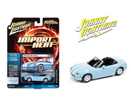 1999 MAZDA MIATA MX5 LIGHT BLUE IMPORT HEAT 1/64 SCALE DIECAST CAR MODEL BY JOHNNY LIGHTNING JLSP111A