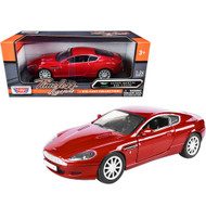 ASTON MARTIN DB9 COUPE RED 1/24 SCALE DIECAST CAR MODEL BY MOTOR MAX 73321