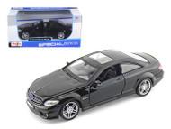 MERCEDES BENZ CL63 AMG BLACK 1/24 SCALE DIECAST CAR MODEL By MAISTO 31297 BK