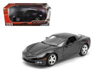 2005 Chevrolet Corvette C6 Coupe Black 1/24 Scale Diecast Car Model By Motor Max 73270